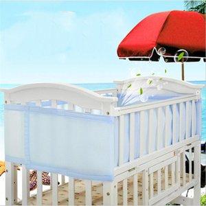 1pc bébé anti-collision Literie Kit Crib Clôture respirante Lit Mesh Doublure amovible Longueur réglable Accessoires du nouveau-né de lit