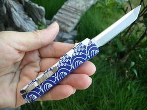 die eine Schnalle Messer Aluminium doppelte Wirkung Satin 440C Tantoklinge Klappmesser Weihnachtsgeschenk Messer 1PCS A1pa keychain Mini Key