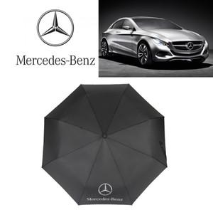 Mercedes Benz Sun Umbrella Открытый Солнцезащита Автоматическая Тройной Зонт Мода Гольф Дизайнер Зонтик Взрыв Горячей Продажи