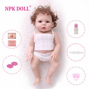 NPKDOLL bébé 18 pouces Réincarné pleine vinyle jouets pour enfants Lifelike faux bébé éducatif Bain Enfants Playmate Bébé Boneca Y200111