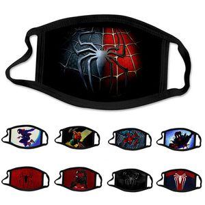 10 ADET Kaptan Batman Örümcek Adam süper kahraman tasarımcı lüks Kid yüz maskesi Parti Cosplay Shield Yeniden kullanılabilir Toz Windproof Çocuk Pamuk Maskeler