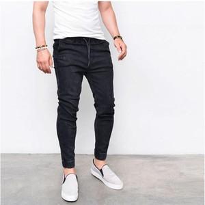 CYSINCOS 2018 Nuova Primavera Estate Lungo pantaloni della matita casuale sottile jeans da uomo Marchi Slim Fit pantaloni elastico in vita Maschio Pantaloni