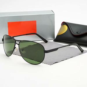 Popolare lente in vetro Occhiali da Sole per uomini e donne della struttura del metallo Quadrato Sole che guida i vetri anti-riflesso Vetro Lense Occhiali Designer
