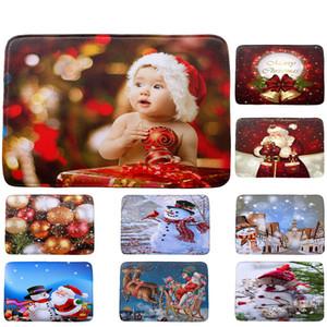 Yeni Tasarım Moda Tasarım Merry Christmas HD Baskılı Polyester Kaymaz Banyo Paspas Emici Renkli Halı Ev Dekor