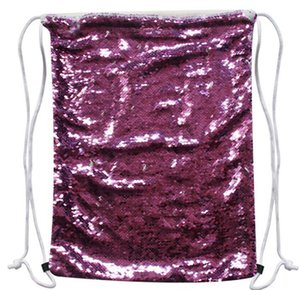 Magic Sublimation Blank 45x35cm Sequins Backpack Drawstring Glitter Transfer Sports Bags Outdoor DIY Hot Printing Consumables Wfbit