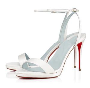 Горячей к 2020 году новых женщин мода на высоких каблуках платье туфли с открытым мыском туфли супер босоножки красные нижние насосы Сюзанна мощные лодыжки манжеты с открытым носком silhouet