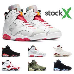 Air Retro Jordan 6 мужская баскетбольная обувь AirРетроДжордан 5 черный белый пустынный камуфляж Ice Blue КРАСНАЯ СЮДА Fresh Prince Спортивные кроссовки размер 7-13
