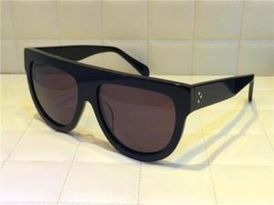 41026 النظارات الشمسية الفاخرة للنساء مصمم شعبية القط عيون الإطار 04 النظارات الشمسية الكريستال Metarial أزياء المرأة نمط تأتي مع الوردي