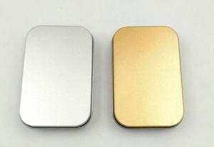 100pcs التي / الكثير الذهب البسيطة تين مربع 94 * 61 * 20MM للمجوهرات كاندي الديكور صناديق التخزين U القرص سماعة علبة هدية