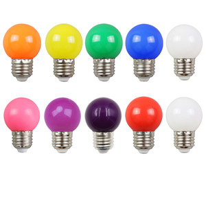 Pack of 10 2W E27 LED Coloured Light Bulb Mini Globe Bulbs for Indoor Outdoor Decoration Patio Garden Party Christmas