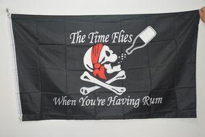 3x5FT Big Halloween Skull Pirate Flags Drinking Bar Black Jolly Roger Crossbones Swords Black Flags Halloween Props