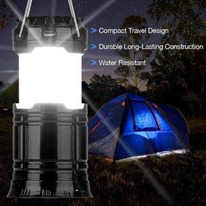 Yüksek Parlaklık Lamba Fener ile Taşınabilir Aydınlatma Güneş Taşınabilir Çekilebilir Kamp Çadırı Işık Alev Acil