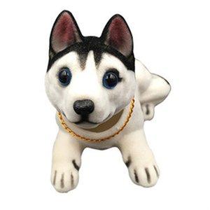Auto Annuendo cane husky Bobble Head Dog Dashboard bambola ornamenti dell'automobile Shaking Toy accessori capi Bobblehead swing