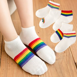 Rainbow Boys Girls Socks Children Kids Cotton Striped Socks Colorful High Sock for Kids New Fashion Newborn Toddler Sock 1-8Y