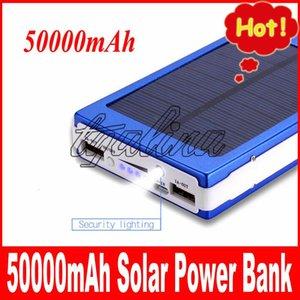 E Качество Горячие продажи Высокая 50000mah Solar Power Bank Резервная батарея 50000 мАч Солнечное зарядное устройство для GPS MP3 Ipad мобильного телефона Бесплатная доставка