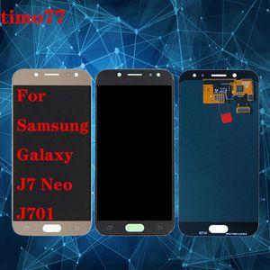LCD completo digitalizador para Samsung Galaxy J7 neo J701 J701F J701M J701MT pantalla LCD de pantalla táctil TFT Asamblea brillo ajustable