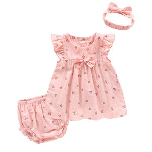 Girls Dress Summer New Children's Clothing Baby Girl Strawberry Straw Hat Princess Dress