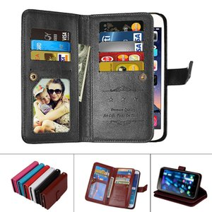 Großhandel Leder Magnetic Durable 9 Karten Slots Flip Mappenkasten für Sony Xperia XAA XA1 XZ XZ1 XZ2 Compact Ultra Premium-Leistung