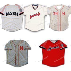 Mens Nashville klingt Marineblau weiß grau rot kundenspezifisch doppelt genähter Hemden Baseball-Trikots