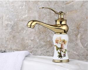 2020 estilo europeu bacia ouro bacia banheiro jade torneira lavatório quente e frio todo o cobre único manípulo da torneira 06