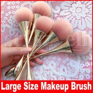 3 cores Grande Makeup Tamanho Pó Brushes Kabuki contorno do rosto Blush Brush Fundação Make Up Tools Beleza pincel preto Rosa de Ouro