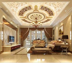 Tapete-Mustermarmor der kundenspezifischen 3D Decke für Wohnzimmer Wandpapiere der Deckenoptik des Wohnzimmers 3d Ziegelstein 3d