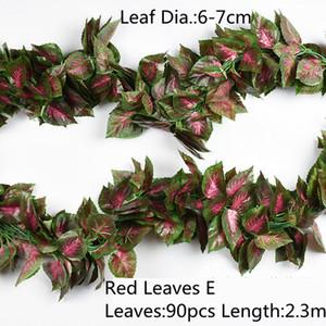 10 스타일 1pc 인공 장식 생생한 포도 나무 등나무 잎 Vagina 잔디 식물 정원 정원 장식 B1015에 대 한 포도 잎