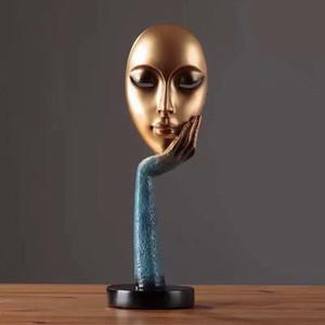 2019new Home Décor moderne Creative visage féminin ornement 4 couleurs 2 modèles Arts et artisanat décoration de la maison