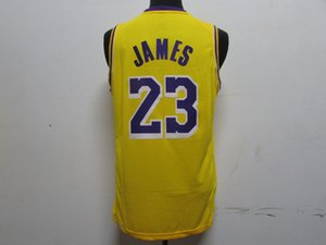Mens Throwback LeBron 23 James Basketball Jerseys Breathable sports top Jersey