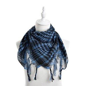 Новый унисекс 5 цветов женщины мужчины клетчатый Арабская сетка шеи куфия Палестина шарф обруча горячие продажи