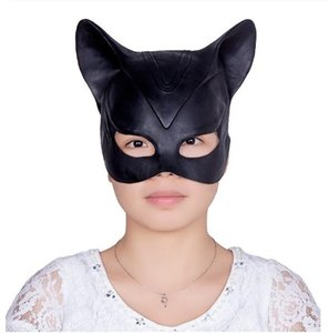 Sexy Party mascherina divertente Catwoman Batman Cosplay Casco Latex Mask Fancy adulto di Halloween