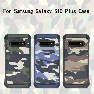 Hybrid TPU+PC Shockproof Case For Samsung Galaxy S10 Plus Army Camouflage Cover For Samsung Galaxy Note 10 Plus Free Shipping