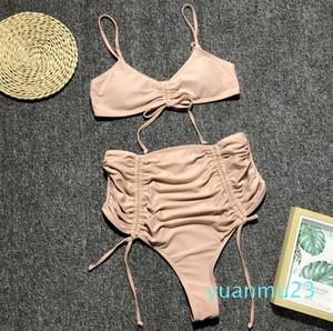 Wholesale-High Waist Bikini Swimming Suit For Women Maillot De Bain Femme Push Up Swimwear Bathing Suit Designer Swimsuit Beachwear 2019