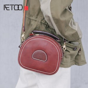 AETOO Hand-made leather bag for women, leather retro one shoulder bag, casual versatile cross-body bag for women