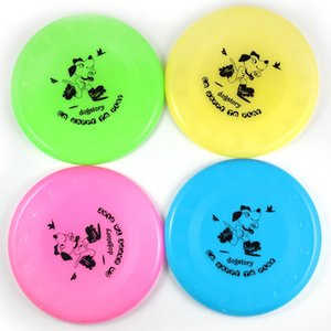 Plastic frisbee dog toy training interactive play hand thrown 20cm pet products children's Beach Frisbee