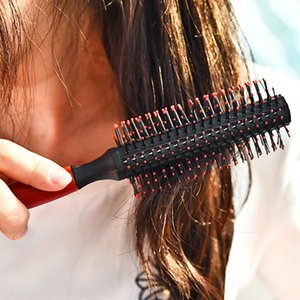 1 Pc Comb Hair Brush Roll Round Wavy Curly Styling Care Curling Salon Tool Combo Pocket Long Handle Holder Delightful Popular Beard OoOaT