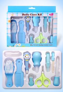 Nagelpflege-Set für Neugeborene 10 Sets Sputumsauger Haar Kammschere Bürste und Baby-Nagelschere