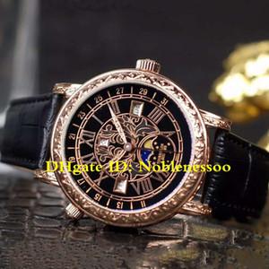 5 para hombre de color clásico de lujo del reloj unisex del cuarzo de las mujeres Movimiento fase de la luna Grand complicaciones complejas función de temporización relojes de los hombres de la serie de