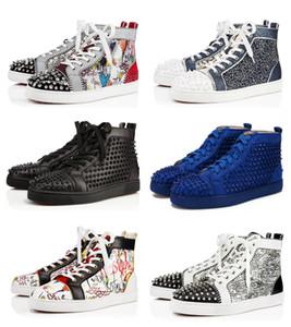 Новые конструкции обувь Спайк младший икроножных Low Cut Mix 20 Red Bottom Sneaker Luxury Party Свадебная обувь из натуральной кожи Шипы шнуровке Повседневная обувь
