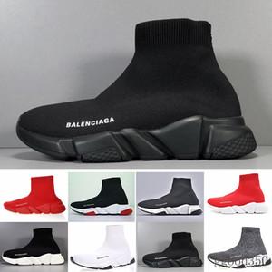 Balenciaga Diseñadores de las zapatillas de deporte Speed Trainer Negro Rojo Gypsophila Triple Negro planos del calcetín Botas Casual Speed Trainer corredor con la bolsa