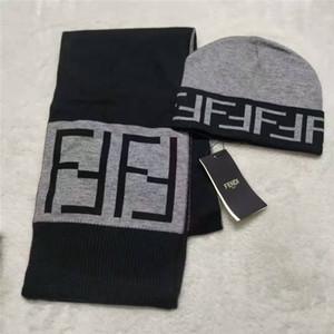 Marka tasarımcı şapka ve atkı seti, klasik lüks erkek ve kadın yüksek kaliteli alfabe örme yün atkı sıcak şapka ücretsiz teslimat