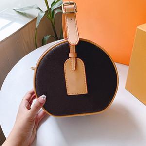 Bolso de diseñador Flores Letras Wristlet Pasteles redondos Banquete Totes Bolsos de hombro Cuero genuino Mujeres Embrague Messenger Bag Crossbody Monedero