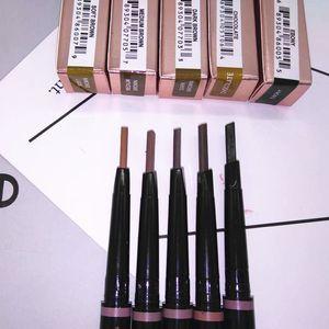 5 цветов Фонд макияжа Водонепроницаемый Карандаш для бровей с расческой Щетка 2 в 1 Автоматическая бровями гель Maquiagem