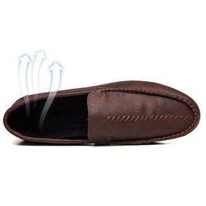 الرجال المتسكعون أحذية الرجل 2019 حذاء جديد أزياء الخريف القيادة الأحذية العلامة التجارية عارضة الرجال نوعية الجلود الاصطناعية قارب أحذية