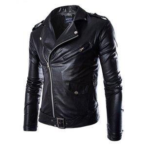 Men's Leather Jacket Fashion Coat Biker Jacket Homme Jaqueta De Couro Masculina PU Leather Mens Punk Veste Cuir