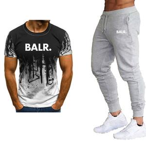 2020 neues T-Shirt + Hosenanzug für Männer Herren Designerkleidung Sommerklage beiläufigen T-Shirts Herren-Sportswear-Marke Kleidung Top-Tarnanzug Männer
