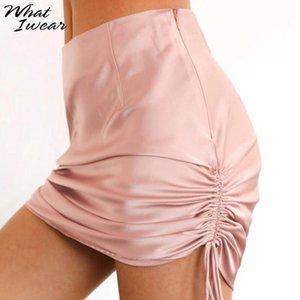Women fashion skirts adjusted high waist mini femme slim solid bottom casual streetwear lady office wear summer new