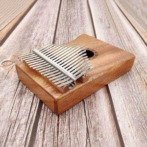 De alta calidad de 17 teclas de piano para principiantes Kalimba Pulgar Introducción instrumentos musicales de madera de la guitarra portátiles