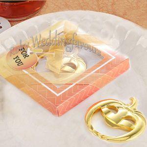 20PCS oro zucca Bottle Opener Holloween regali del partito favola a tema favori di nozze Tabella di compleanno Keepsake Impostazione accessori per la casa