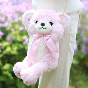 Kawaii Stuffed Teddy Bear Backpack for Girls Bear Shoulder Bag Birthday Christmas Doll Toy Kids Gift